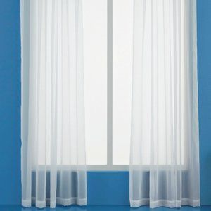 Room Essentials White Voile Sheer Curtain Panel